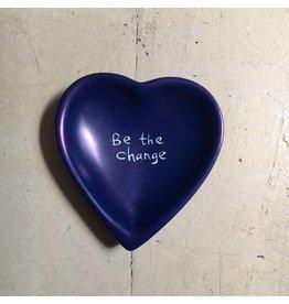 Be the Change Heart Soapstone Dish, Kenya