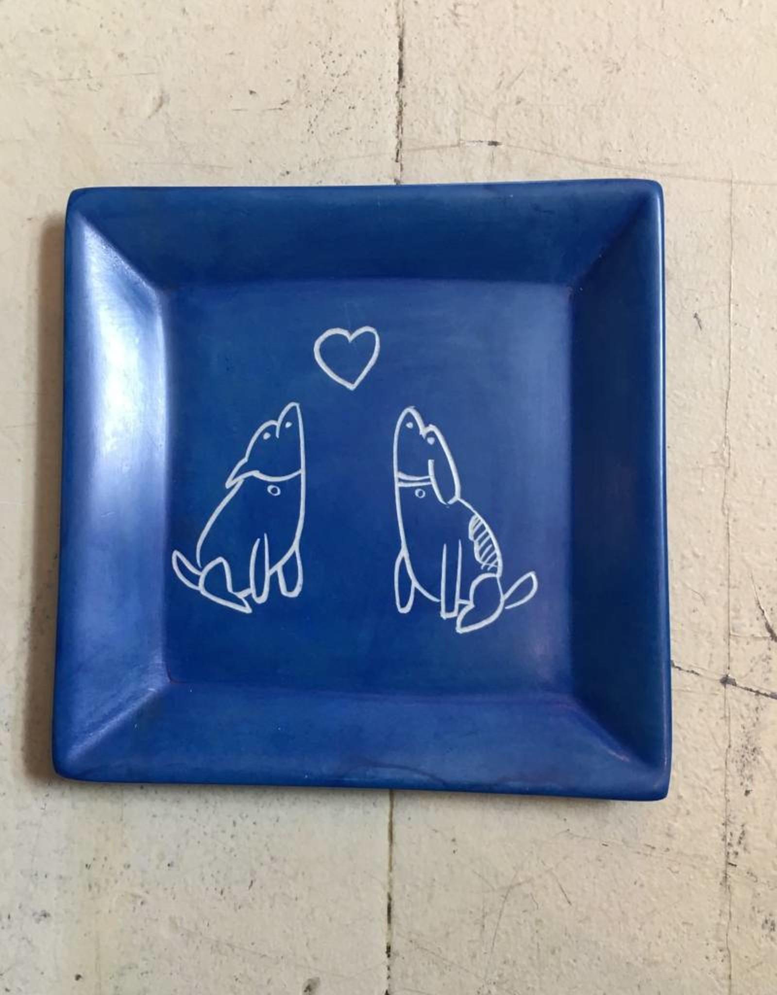 Dog Soapstone Dish
