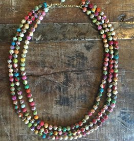 Triple Strand Sari Necklace
