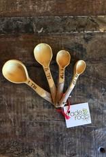 Coffee Wood Measuring Spoon Set