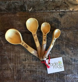 Coffee Wood Measuring Spoon Set