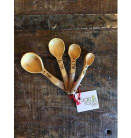 Coffeewood Measuring Spoon Set, Guatemala