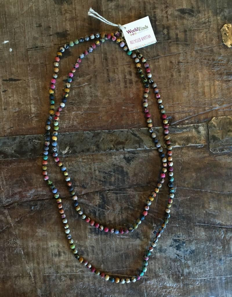 India, Kantha Bead Long Necklace