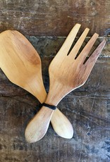 Olivewood Fork and Spoon Salad Set