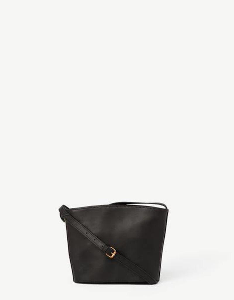 India,Kavita Black Leather Crossbody