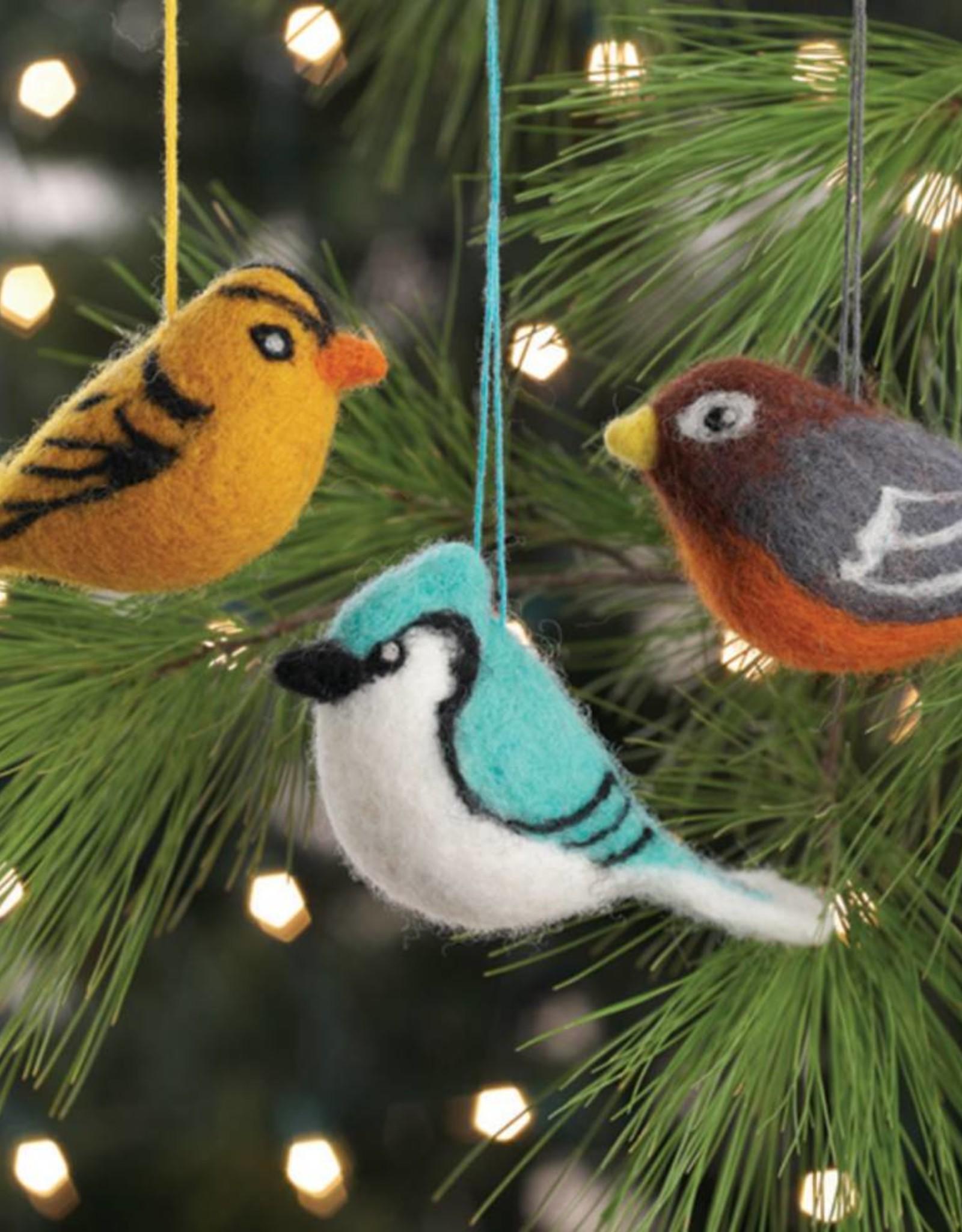 Felted Bird Ornament
