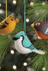 Felted Bird Ornament