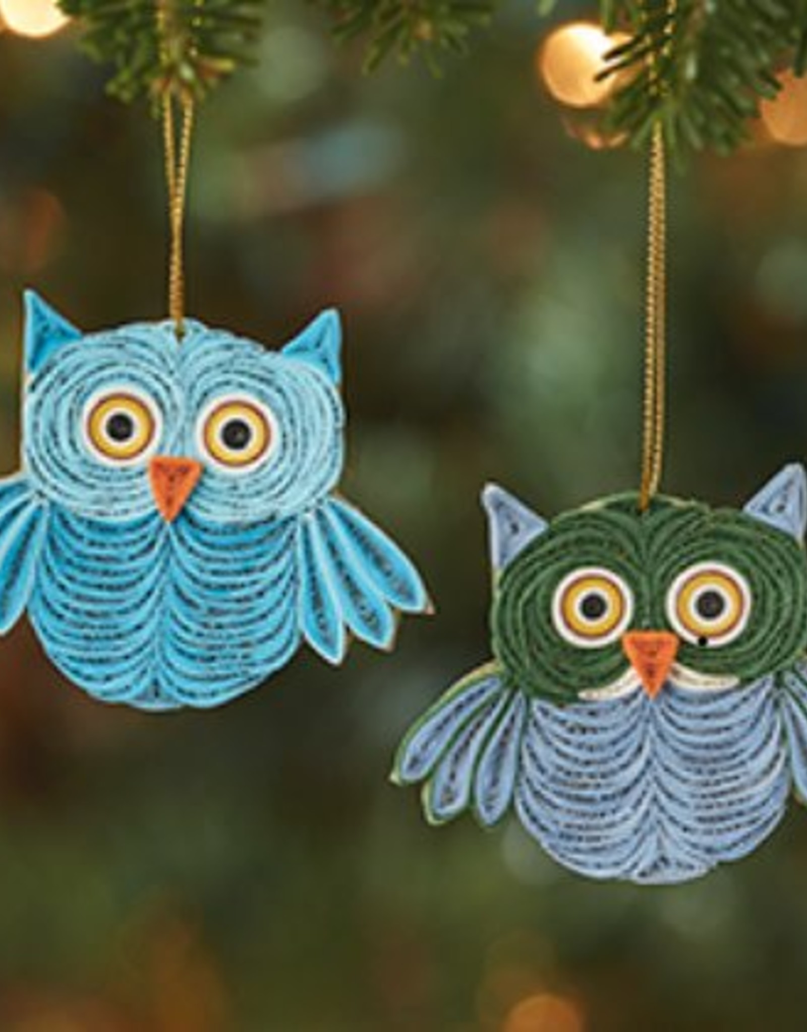 Quilled Owl Ornament