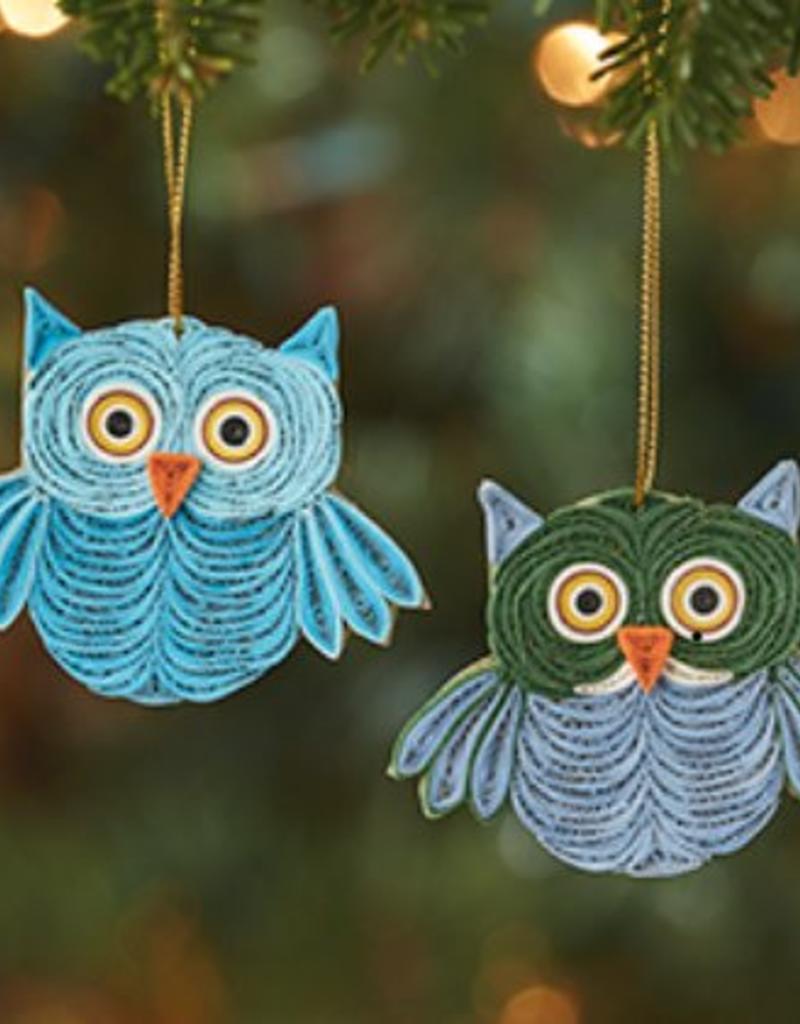 Vietnam, Quilled Owl Ornament