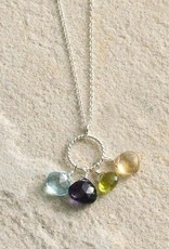 Semi precious Stones Pendant Necklace