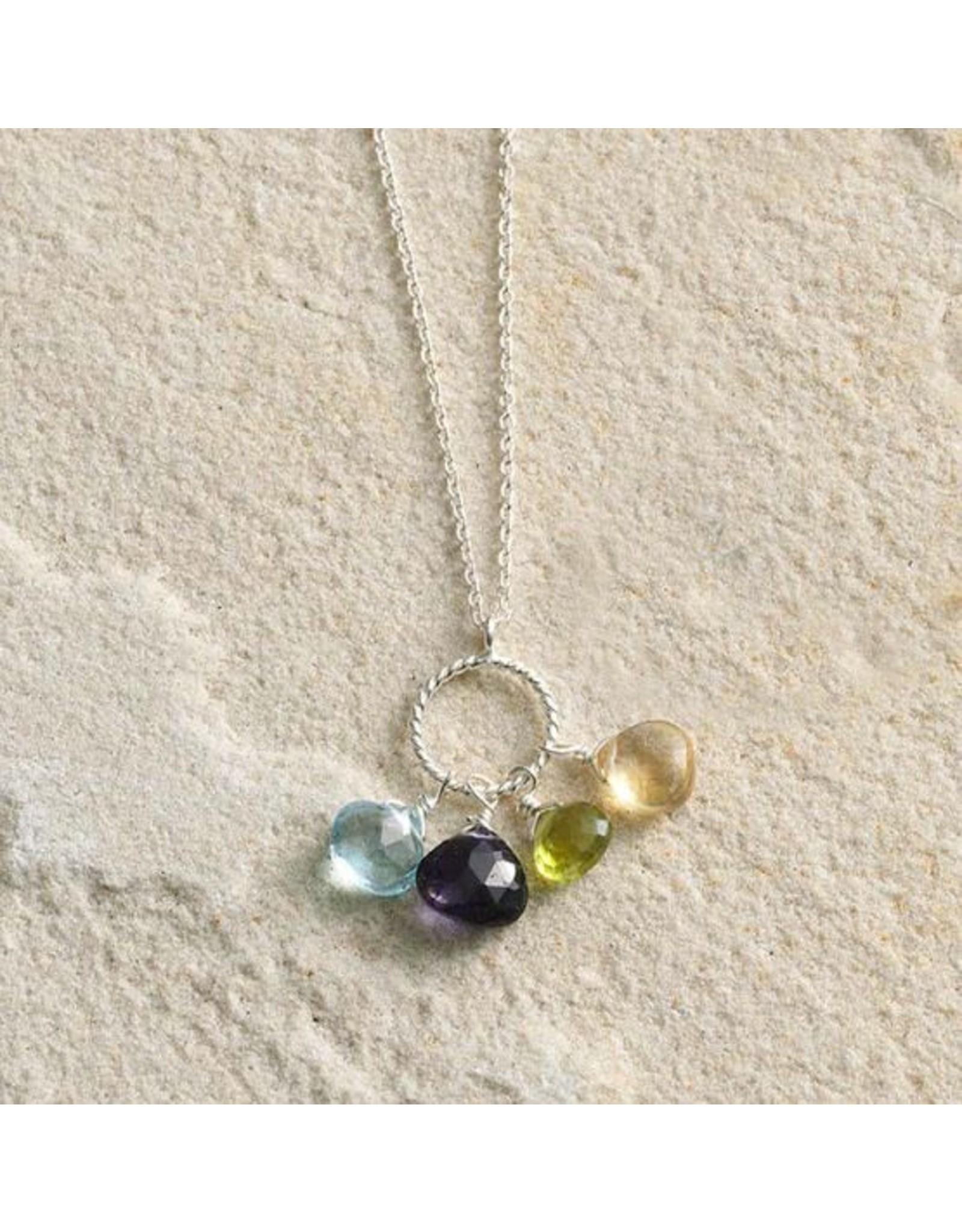 Semi Precious Stones Pendant Necklace, India