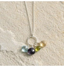Semiprecious Stones Pendant Necklace