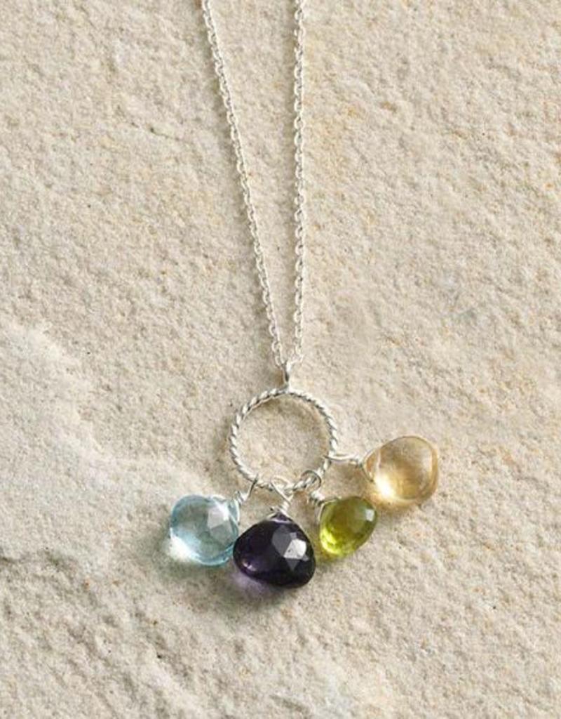 Semi precious Stones Pendant Necklace