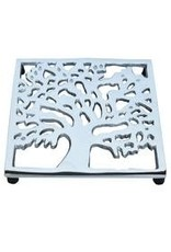 Silver Kalpa Tree Trivet, India