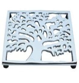 Silver Kalpa Tree Trivet, India
