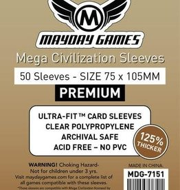 Mayday Games 7151 Sleeve«Mega Civilisation» 75mm X 105mm / 50