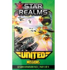 White Wizard Games Star Realms: Ext. United Missions (EN)  (commande spéciale)