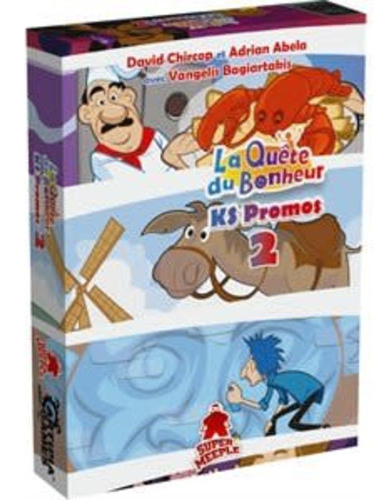 Super Meeple Précommande: La Quête du Bonheur: Ext. KS Promos 2 (FR)
