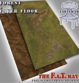 Tablewar F.A.T. Mats: Forest/Cave Floor 6X3 (commande spéciale)