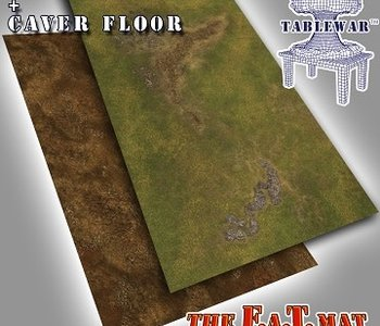 F.A.T. Mats: Forest/Cave Floor 6X3 (commande spéciale)
