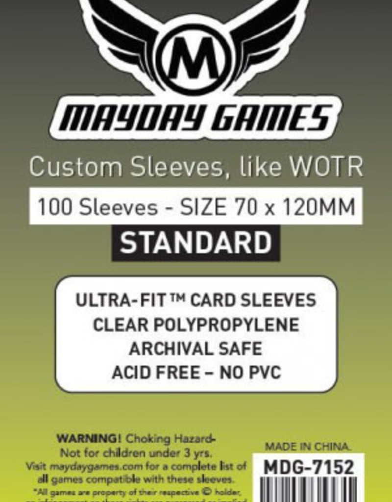 Mayday Games Sleeves - MDG-7152 «Tarot» 70 mm x 120 mm / 100  (commande spéciale)