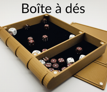 Dice Tray magnétique: Metal Like