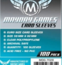 Mayday Games 7028 Sleeve «euro» 59mm X 92 mm / 100 (Commande Spéciale)