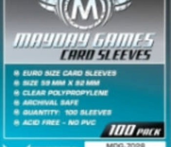 Sleeves - MDG-7028 «Euro» 59mm X 92 mm / 100 (Commande Spéciale)