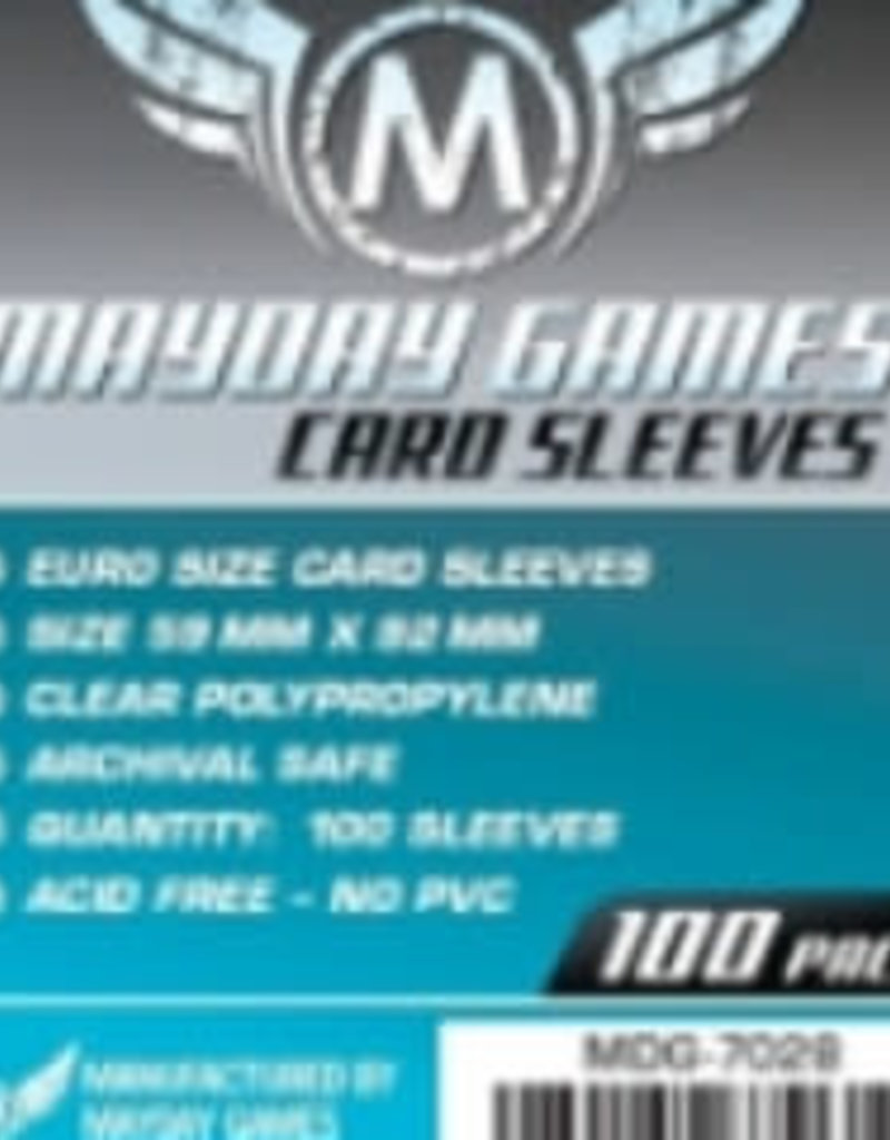 Mayday Games Sleeves - MDG-7028 «Euro» 59mm X 92 mm / 100 (Commande Spéciale)