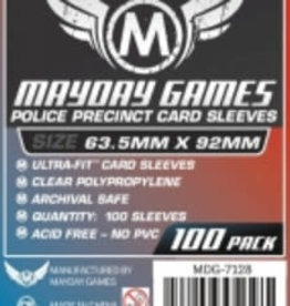 Mayday Games 7128 Sleeve «Police Precinct» 63.5mm X 92 mm / 100 (Commande Spéciale)