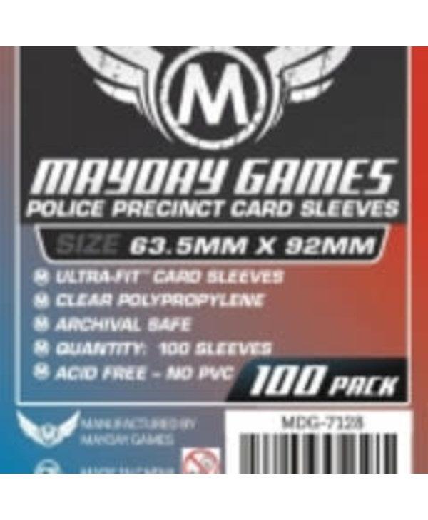Sleeves - MDG-7128 «Police Precinct» 63.5mm X 92 mm / 100 (Commande Spéciale)