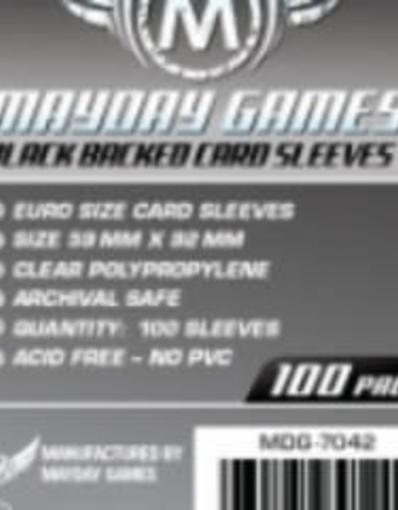 Mayday Games Sleeves - MDG-7042 «Euro Noir» 59mm X 92mm / 100 (Commande Spéciale)