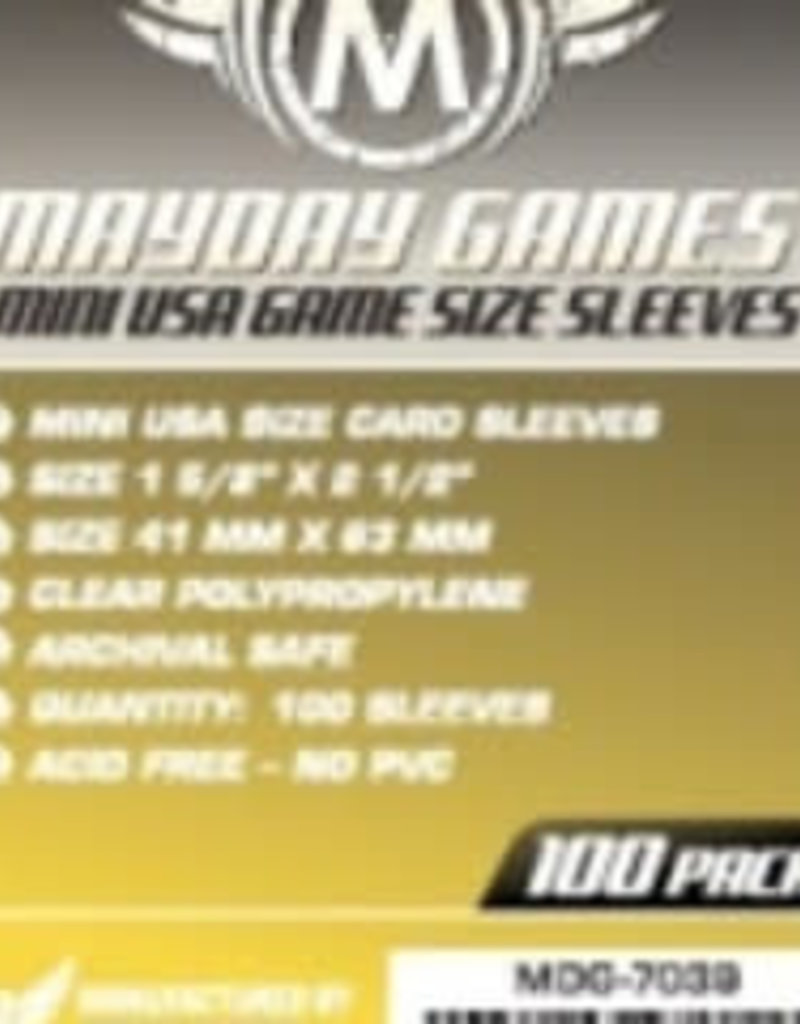 Mayday Games Sleeves - MDG-7039 «Mini-USA» 41mm X 63mm / 100 (Commande Spéciale)