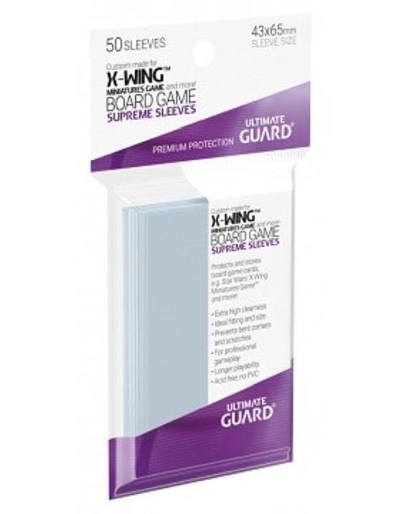 Ultimate Guard 10477  Ultimate Guard «X-Wing Miniatures Game» 43mm X 65mm Supreme / 50 Sleeves