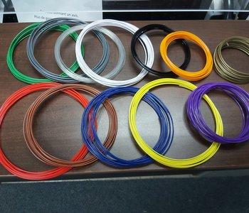 3 Sacs de recharge de fil 3D: 10 couleurs de 5mm