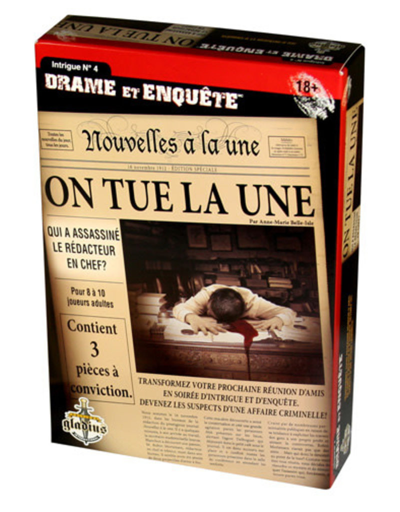 Editions Gladius International Inc. Drame & Enquête: On Tue La Une (FR)