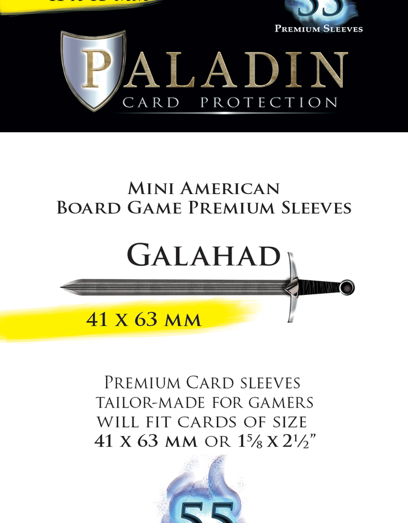 NSKN Games Paladin-Galahad «Mini American» 41mm X 63mm / 55 Sleeves