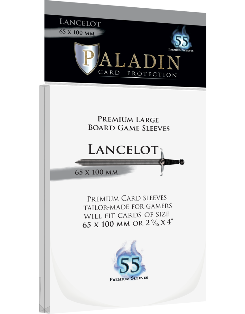 NSKN Games 461 Sleeve Lancelot «Large Board Game» 65mm X 100mm / 55 Paladin
