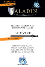 NSKN Games 522 Sleeve Bedivere «Medium Plus Board Game» 54mm X 80mm / 55 Paladin