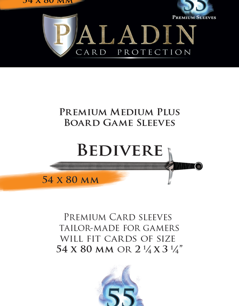 NSKN Games Paladin-Bedivere «Medium Plus Board Game» 54mm X 80mm / 55 Sleeves