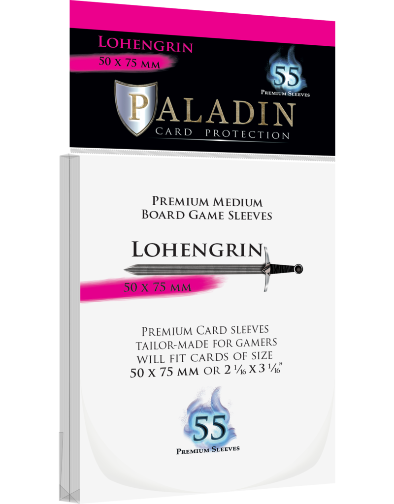 NSKN Games 409 Sleeve Lohengrin «Medium Board Game» 50mm X 75mm / 55 Paladin