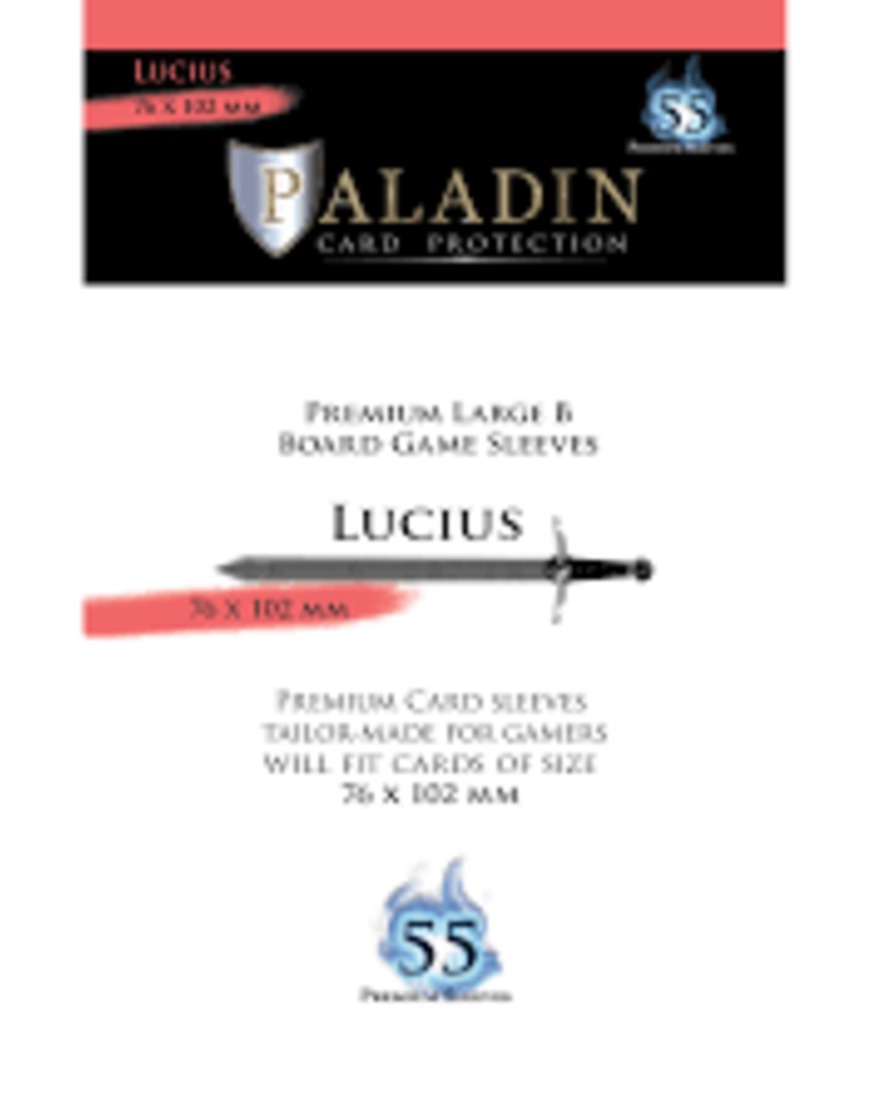 NSKN Games Paladin-Lucius «Premium Large B» 76mm X 102mm / 55 Sleeves