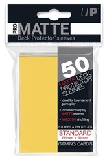 Ultra pro 84186 Sleeve Matte Yellow «Standard» 66 mm X 91 mm Premium / 50