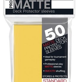 Ultra pro 84186 Sleeve Matte Yellow «Standard» 66 mm X 91 mm Premium / 50
