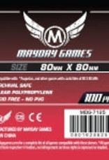 Mayday Games 7125 Sleeve carrés 80mm X 80 mm / 100 (Commande spéciale)
