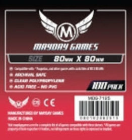Mayday Games 7125 Sleeve carrés 80mm X 80 mm / 100 (Commande spéciale)