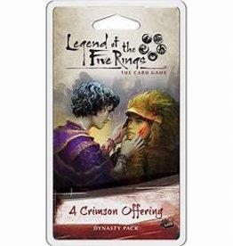 Fantasy Flight Games Précommande: Legend of the Five Rings LCG: A Crimson Offering (EN) Commande spéciale