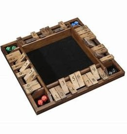 Wood Expressions Shut The Box, 4-Player Wood Travel Size (EN)