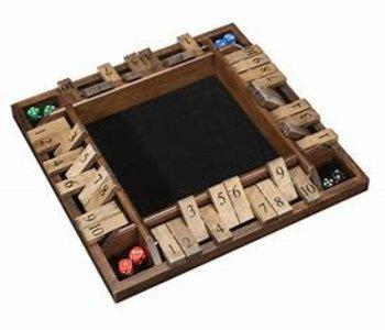 Shut The Box, 4-Player Wood Travel Size (EN)