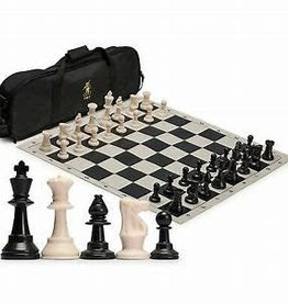 Wood Expressions Précommande: Chess Set: Tournament W/Black Bag And Roll-Up